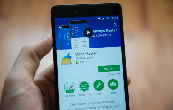 Clean Master App in Android-Smartphone