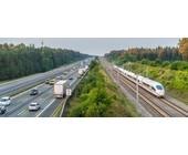 Autobahn und Schienenverkehr