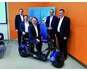 Das Führungsteam von Euronics: die Vorstände Michael Niederführ, Thomas Jacob, Benedict Kober und Jochen Mauch sowie Aufsichtsratschef Dirk Wittmer