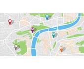 Navigationsziel und Karte