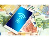 5G-Logo auf Smartphone-Bildschirm