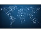 Weltkarte aus Netz