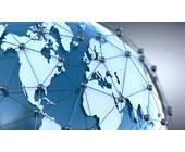 Grafik: Netzwerk auf der ganzen Erdkugel