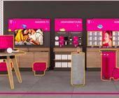 Shop-Möbel der Telekom