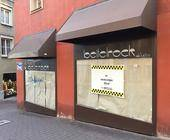Geschlossenes Geschäft in der Augsburger Innenstadt