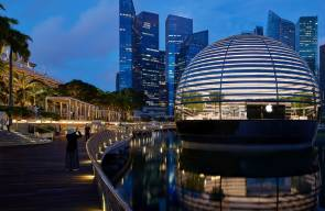 Der Apple Store Marina Bay Sands in Singapur hat ­eine spektakuläre Lage