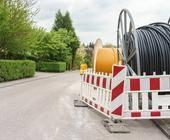 Glasfaserkabel für schnelles Internet