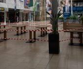 Gesperrtes Einkaufszentrum