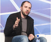 Jan Koum auf dem Mobile World Congress in Barcelona
