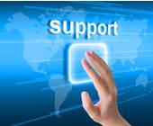 Supportzeichen mit Hand