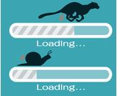 Ladebalken Geschwindigkeit Schnecke und Gepard