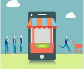 Tablet-Shop mit Kunden