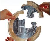 Euromünze als Puzzle