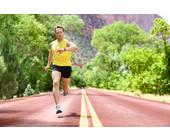 Läufer auf Allee