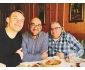 Chefs unter sich: Manuel Neuer (li.), Fatih Sözeri (Mi.) und VIP-Betreuer Olaf Gerhardt (re.)