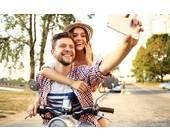 Selfie auf dem Roller