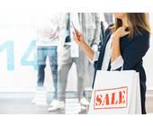 Frau beim Shoppen