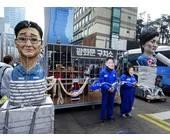 Demonstration in Südkorea