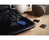 SD-Karten auf Laptop