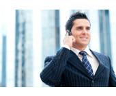 Geschäftsmann beim Telefonieren