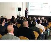Brodos-Chef Dominik Brokelmann bei seiner Keynote