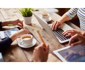 Notebook, Smartphone und Tablet