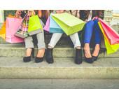 Frauen Einkaufstaschen