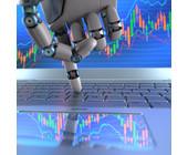 Roboter mit Laptop