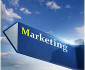 pfeil mit marketing