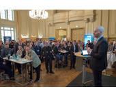 ComTeam-Chef Sven Glatter (re.) bei der Eröffnung der Partnerkonferenz