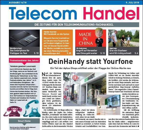 Heute Schon Die Telecom Handel Ausgabe Von Montag Lesen Telecom