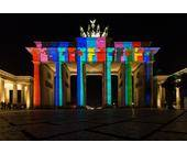 Illuminiertes Brandenburger Tor