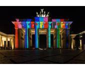 Illuminiertes Brandenburger Tor